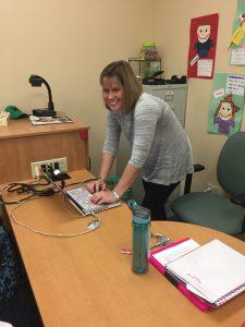 Christa Dieckmann in the classroom