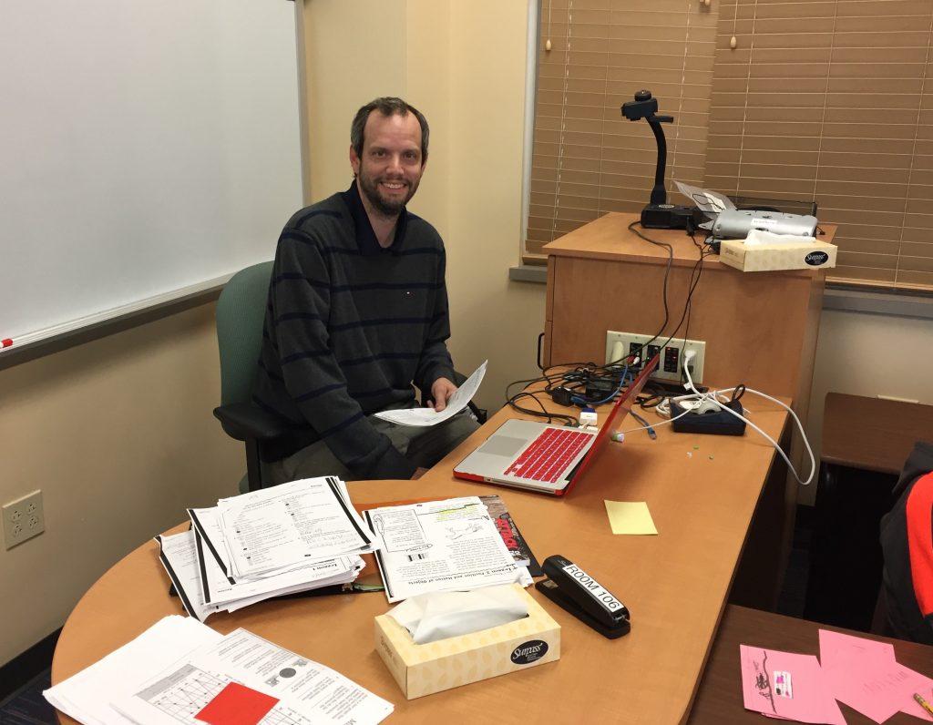 Photo of Dan Carney teaching at Churchill